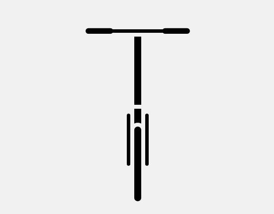 S handlebars on mini folding bike